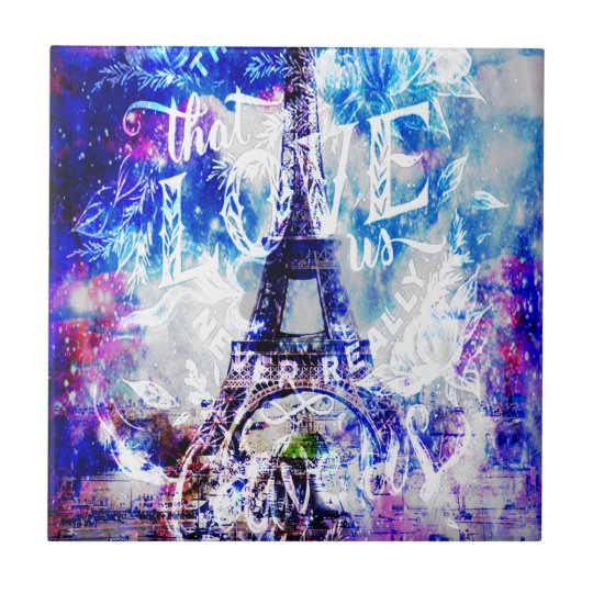 Rainbow Parisian Dreams of the Ones that Love Us Tile