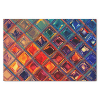 Rainbow Party | Colorful Mosaic Tile Abstract Chic Tissue Paper