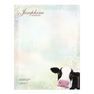 Rainbow Pastel & Cow Personal Letterhead