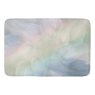 Rainbow Pastel Floral Mandala design Bath Mat