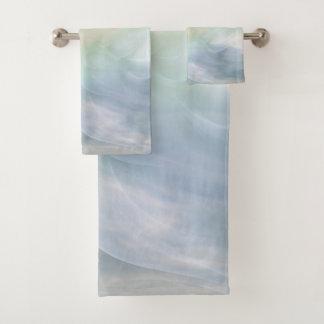 Rainbow Pastel Floral Mandala design Bath Towel Set