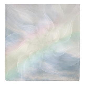 Rainbow Pastel floral Mandala design Duvet Cover