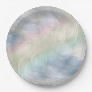 Rainbow Pastel floral Mandala design Paper Plate