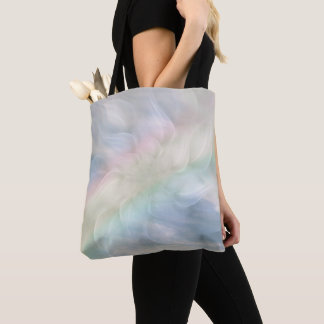 Rainbow Pastel floral Mandala design Tote Bag