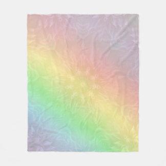 Rainbow Pastel Mandala design Fleece Blanket