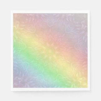 Rainbow Pastel Mandala design Napkin