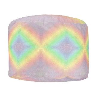 Rainbow Pastel Mandala design Pouf