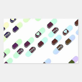 Rainbow Pastel Pills Pattern Sticker