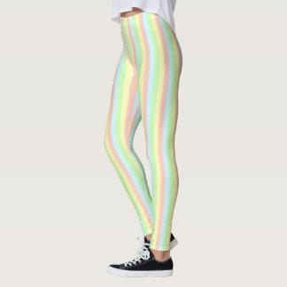 Rainbow Pastel Pinstripe Leggings