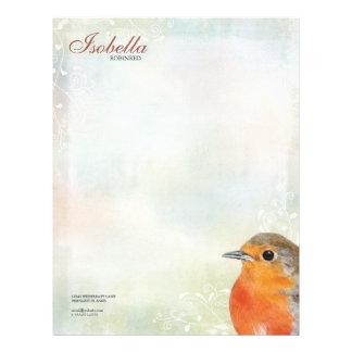 Rainbow Pastel & Robin Personal Letterhead