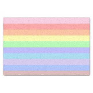 Rainbow Pastel Stripes Tissue Paper