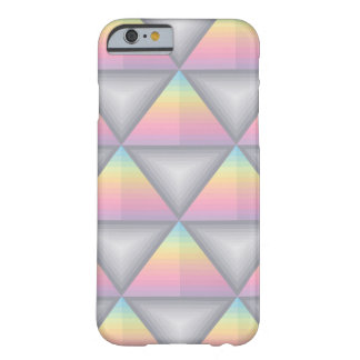 Rainbow Pastels Geometric Triangles, iPhone 6/6s Barely There iPhone 6 Case