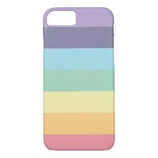 Rainbow pastels iPhone case