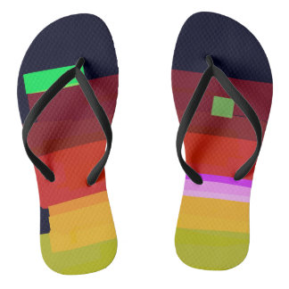 Rainbow Patches Flip Flops