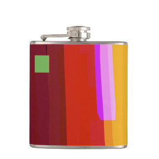 Rainbow Patches Hip Flask
