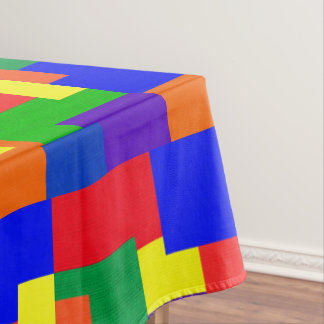 Rainbow Patchwork Abstract Pattern Tablecloth