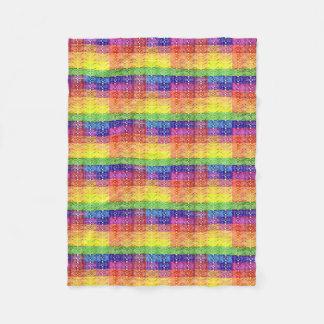 Rainbow Patchwork Pattern Blanket