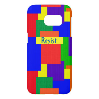 Rainbow Patchwork Quilt Resist Galaxy S7 Case