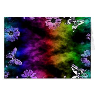 Rainbow Pattern Butterflies Love Card