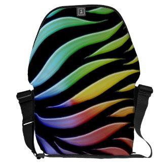 Rainbow Pattern Candy Black Commuter Bag