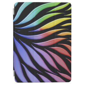 Rainbow Pattern Candy Black iPad Air Cover