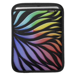 Rainbow Pattern Candy Black iPad Sleeve