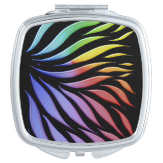 Rainbow Pattern Candy Black Makeup Mirror
