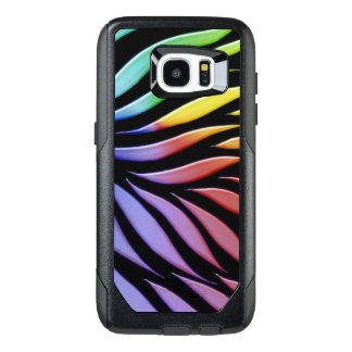 Rainbow Pattern Candy Black OtterBox Samsung Galaxy S7 Edge Case