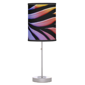 Rainbow Pattern Candy Black Table Lamp