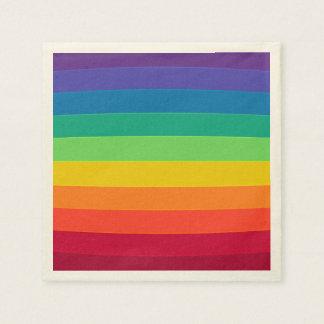 Rainbow pattern paper napkins