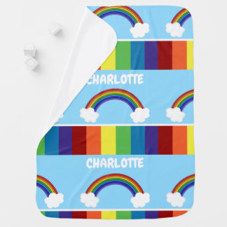 Rainbow Pattern Personalized Colourful Baby Blanket