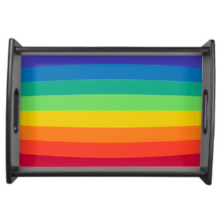 Rainbow pattern serving tray