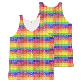 Rainbow Pattern Tank Top for Men and Women