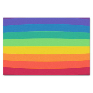 Rainbow pattern tissue paper
