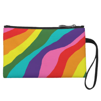 Rainbow Patterns Wristlet