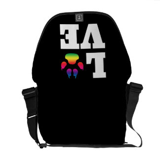 Rainbow paw courier bag