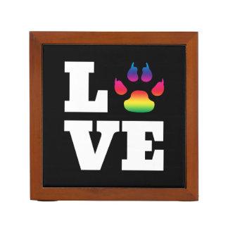 Rainbow paw desk organizer