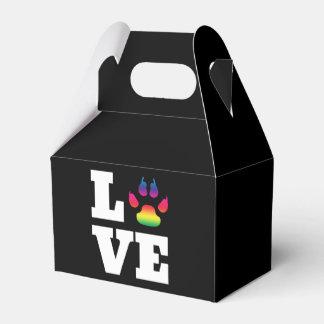 Rainbow paw favor box