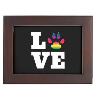 Rainbow paw keepsake box