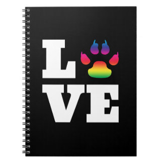 Rainbow paw notebook