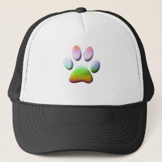 Rainbow Paw Print Trucker Hat