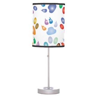 Rainbow Paw Prints Table Lamp