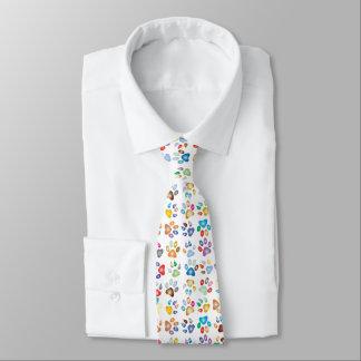 Rainbow Paw Prints Tie
