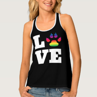 Rainbow paw tank top