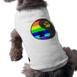 Rainbow Paw Yin Yang Doggie Tee