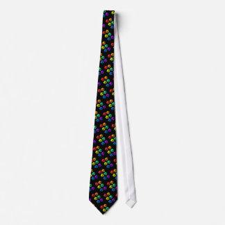 Rainbow Pawprints Tie