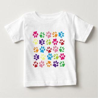 Rainbow Paws Pattern Baby T-Shirt