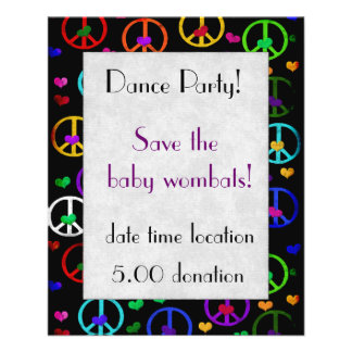 Rainbow Peace Hearts Personalized Flyer