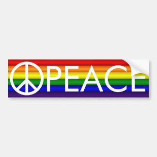 Rainbow Peace Sign Bumper Sticker
