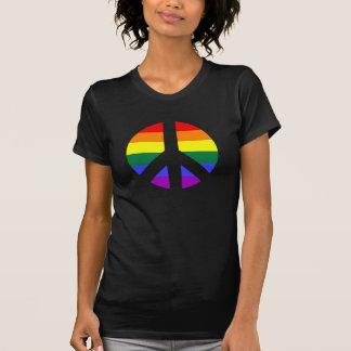 Rainbow Peace Sign Design T-Shirt